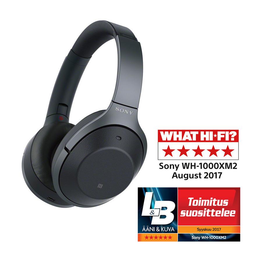 Sony around ear kuulokkeet WH 1000XM2 (musta) Kuulokkeet