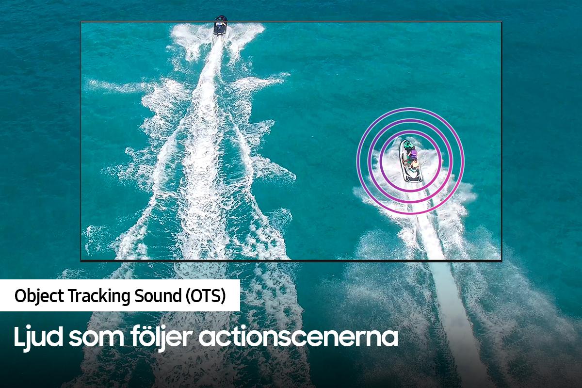 Samsung QN85 Object Tracking Sound (OTS) - ljud som följer actionscenerna