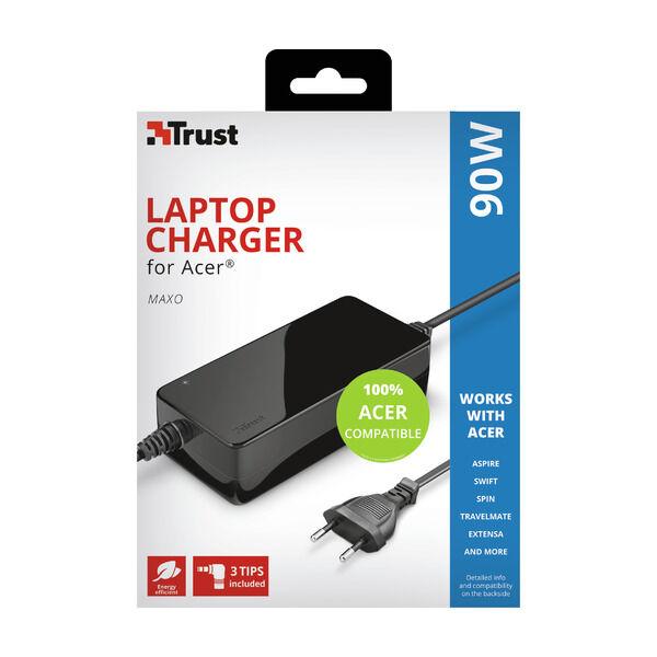 Trust Maxo Acer 90W lader til bærbar PC Kabler og