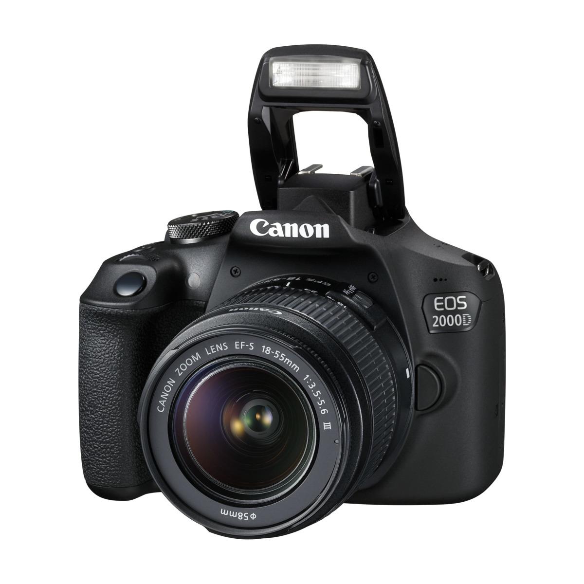 Canon EOS 2000D 18 55 IS II Black | På lager | Billig